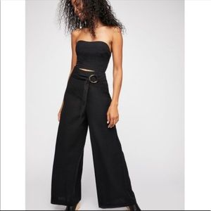 Free People Easy Street Strapless Jumpsuit